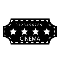 Cinema emblem icon simple style vector image