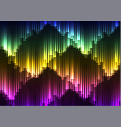 digital aurora abstract background vector image
