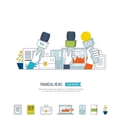 Financial news and strategy planning strategy vector image vector image