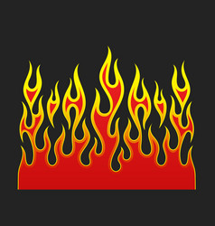 fire flames element vector image vector image