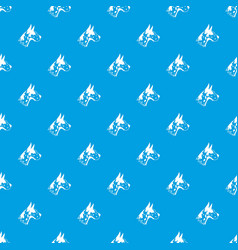 Great dane dog pattern seamless blue vector