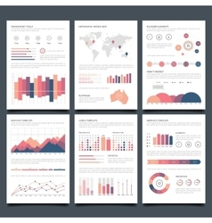 Infographic brochures vector