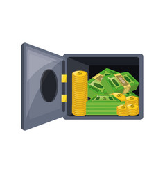 isolated money security box vector image vector image