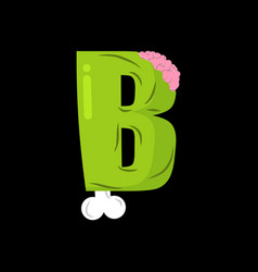 letter b zombie font monster alphabet bones and vector image vector image