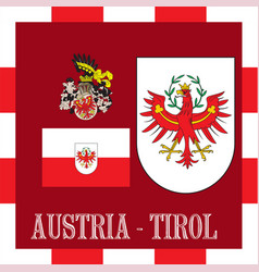 national ensigns of tirol - austria vector image