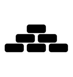 Pyramid black color icon vector