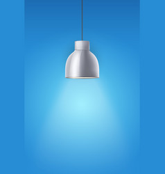 Retro chrome stylish ceiling cone lamp vector