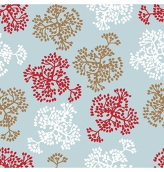 Seamless pattern with brunches background of vector image vector image