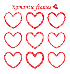 set of romantic twisted frame vector image vector image
