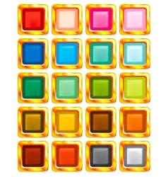 set of varicolored buttons vector image vector image