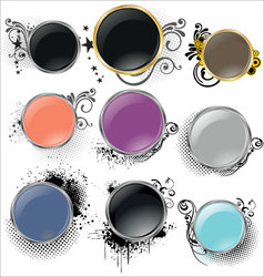 Shiny grunge banners vector