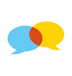 speech bubbles chat comment message talk vector image