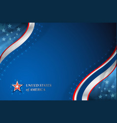 Usa american flag background vector