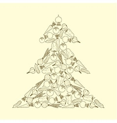 Vedan christmas tree2 vector