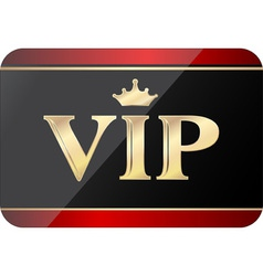 Vip gift card vector
