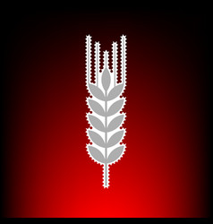 wheat sign spike spica postage vector image