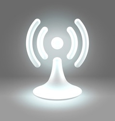 Wifi shining spot over gray vector image
