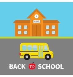 Back to school banner set school building with vector