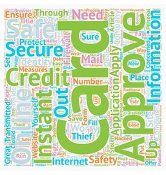 Instant approval credit cards online are they safe vector