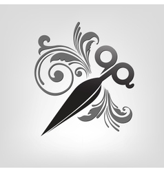 scissors stylization vector image