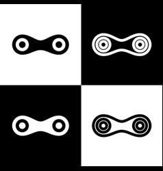 Link sign   black and white vector