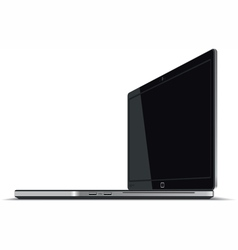 Laptop right side horizontal view vector