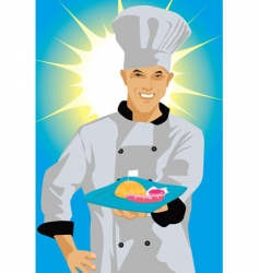 chef smiling vector image