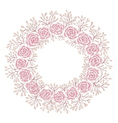 Hand drawn rose frame vector