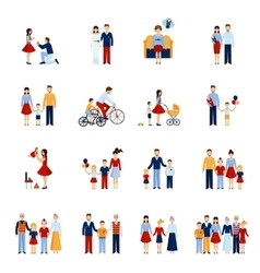 Family icons set vector