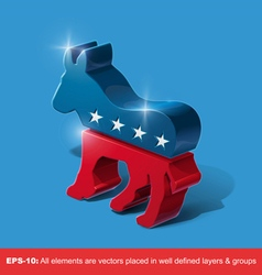 Democratic party 3d sighn vector