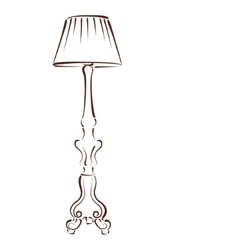 Sketched floor lamp vector
