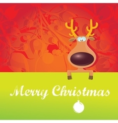 Cartoon christmas reindeer character vector