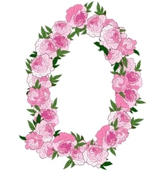 Floral pink wreath vector