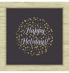 Happy holidays card vector