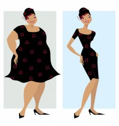 before and after diet vector image