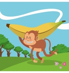 Monkey icon design vector