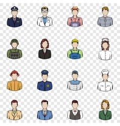 Profession set icons vector