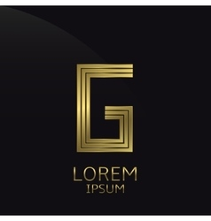Golden G Letter vector image