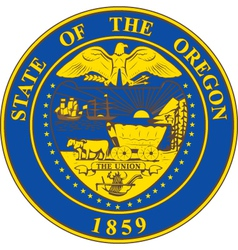Oregon seal vector