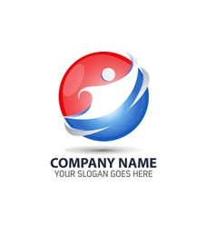 Human technology logo icon vector