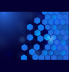 abstract hexagon technology concept background vector image vector image