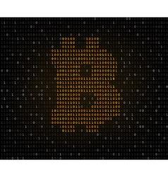Bitcoin symbol binary code vector