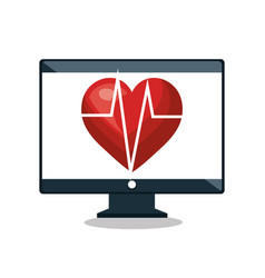 Cardiology digital medical service isolated vector