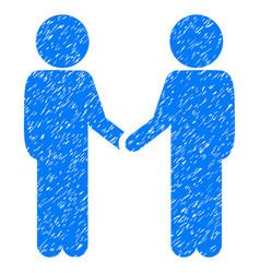 Children handshake grunge icon vector