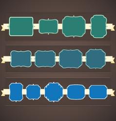 Classic vintage frames set 4 vector