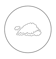 cloud icon in outline style isolated on white vector image vector image