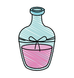 Color crayon stripe cartoon transparent glass vector