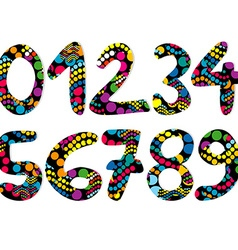 Colorful decorative numbers vector