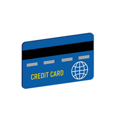 Credit card symbol flat isometric icon or logo 3d vector