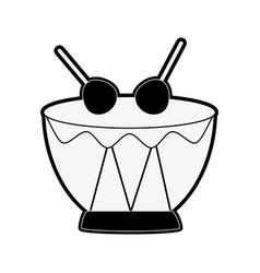 drum music instrument vector image vector image